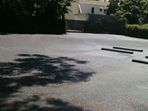 Paved Parking Lot After